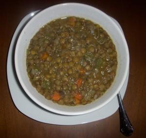 Sodium Reduced Vegetarian Lentil Soup