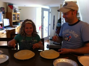 Julia's First Pie with Dad